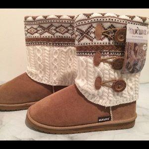 Muk Luks Boots, Size 10